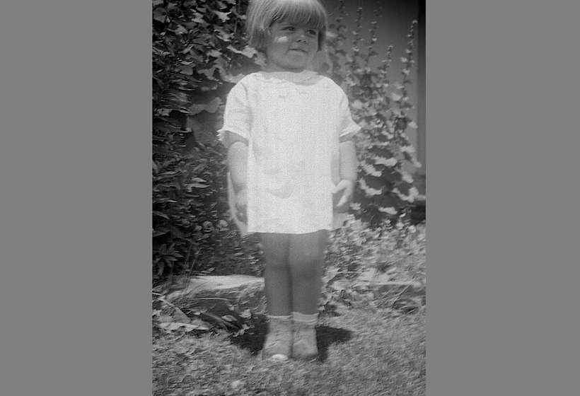 Ginnie Couse in the garden, circa 1934