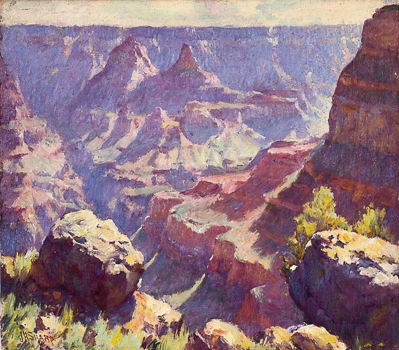 """Grand Canyon"", n.d., oil on canvas, 10 x 14 inches, Fred Jones Jr. Museum of Art, The University of Oklahoma, Norman."
