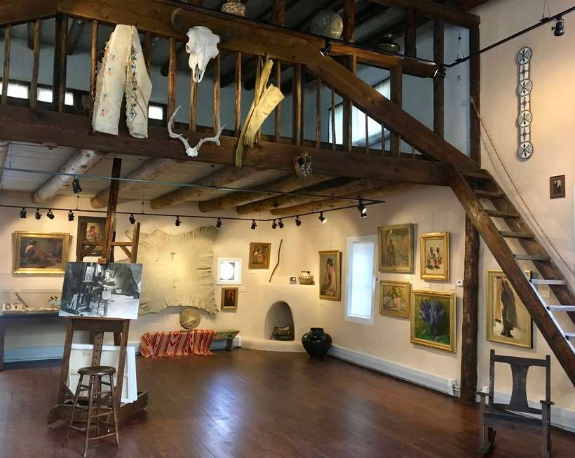 Sharp's 1915 Studio was restored in 2017 and hosts a permanent rotation exhibition of his work, collections, and ephemera