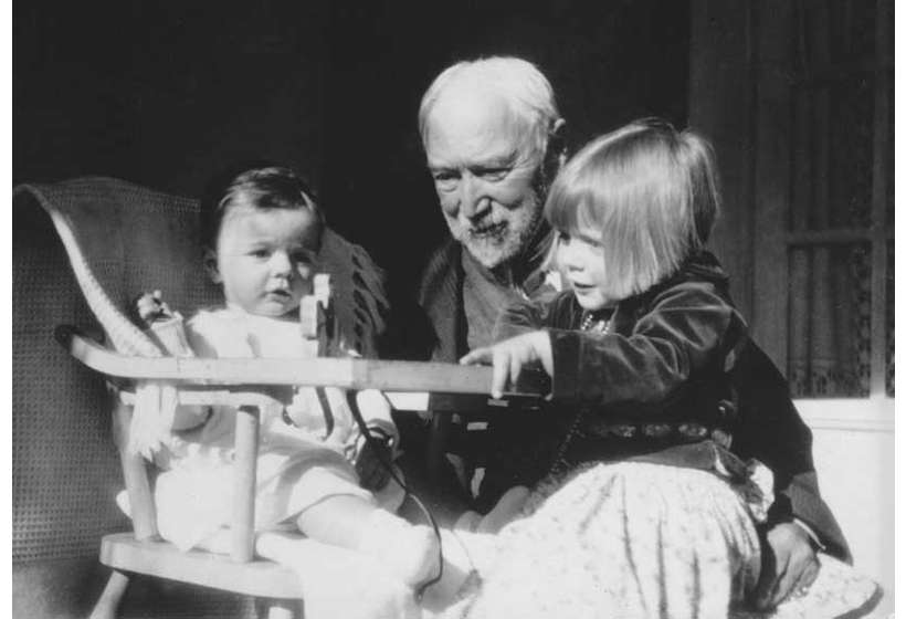 E.I. Couse with two of his grandchildren, Irving and Virginia, 1935.