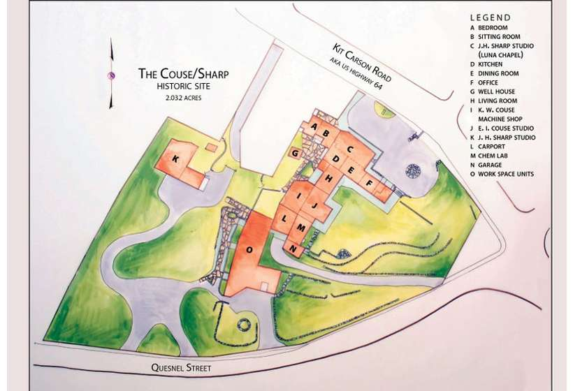 The Couse-Sharp Historic Site overview.