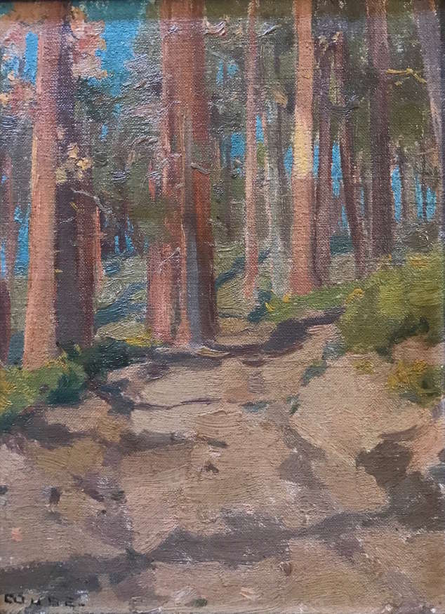 "Eanger Irving Couse (1866-1936) | ""Aspen Forest, Taos"" 