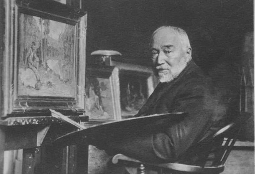 Couse at his easel, circa. 1930.