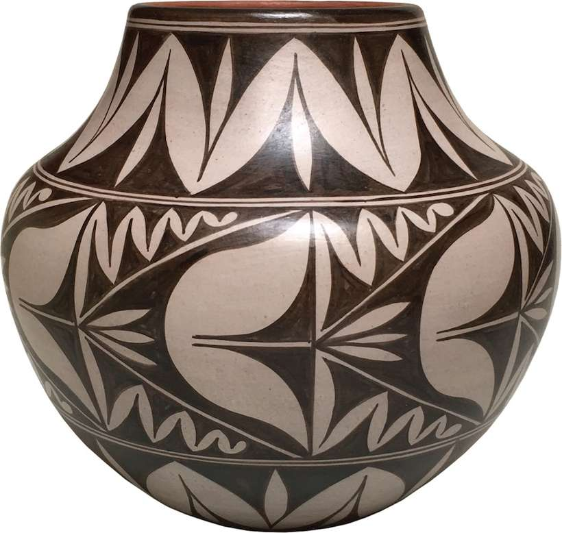 "Lisa Holt & Harlan Reano -  Cochiti & Santa Domingo Pueblos | ""Flower Jar "" 