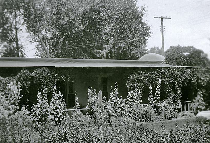 Sharp's house and garden, circa 1920s.