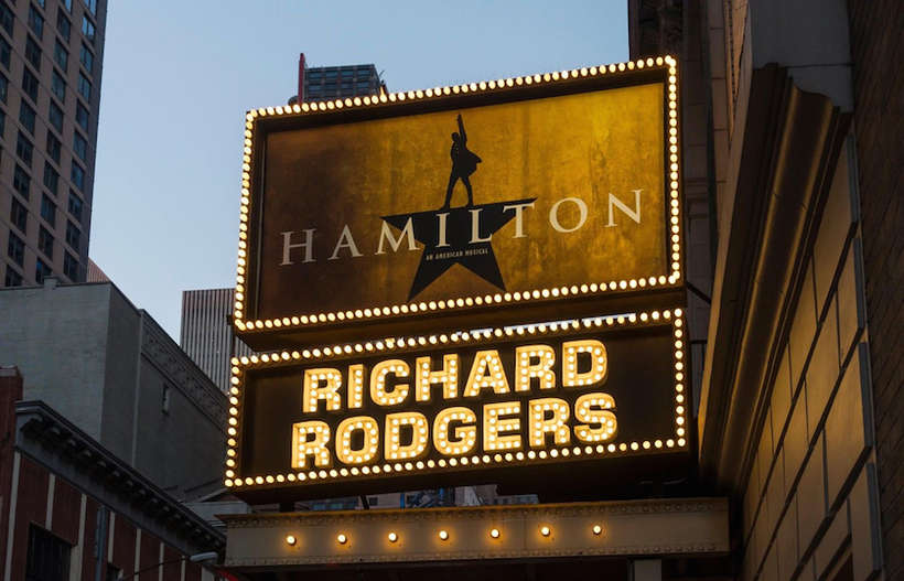 "HAMILTON ON BROADWAY | $7000 |  2 rear mezzanine tickets | 3 nights in Hilton, Hyatt or comparable hotel | Round trip airfare | Winspire booking & concierge service | still the hottest ticket in town and ""sold out"""