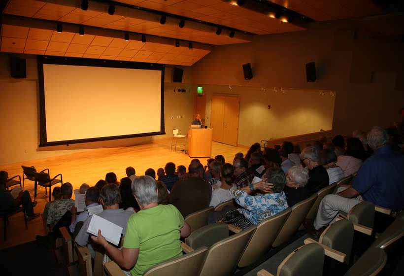 Dean Porter's lecture August 8, 2015, at the Harwood Museum.