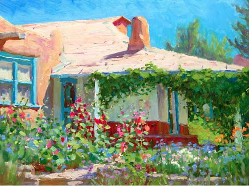Painting of the Couse garden by Ron Rencher, part of the 2009 gala art auction.