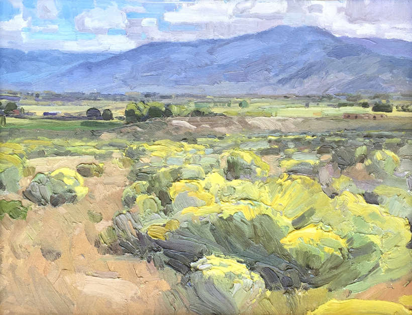 "Len Chmiel | ""Taos Valley from Los Cordobas"" 